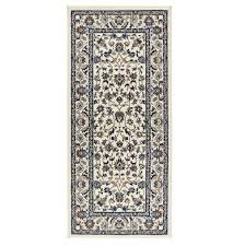 ikea vallÖby rug low pile beige blue 80x180cm
