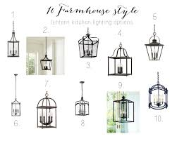 Lantern Kitchen Lighting 10 Farmhouse Kitchen Lantern Options Farmhouse Chic Blog