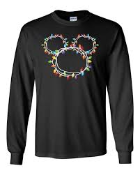Mickey Christmas Lights Mickey Christmas Lights Long Sleeve Shirt Disney Long Sleeve Shirt