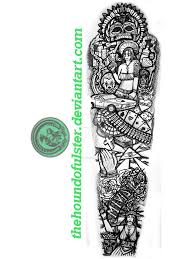 Chicano Gangster Full Sleeve Tattoo By Thehoundofulster On Deviantart