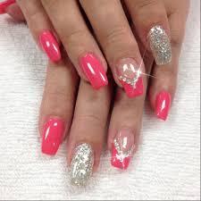 Short Nail Designs With Glitter Pretty Glitter Nail Art Design Idea For Summer Short Nails