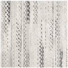 safavieh retro tucson cream gray square indoor moroccan area rug common 6 x