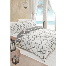 moroccan print duvet cover set 360 view play zoom