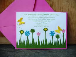 image of garden themed baby shower invitations