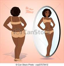 person looking in mirror clipart. fat woman looking in mirror and seeing herself as slim - csp37573412 person clipart .