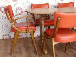 retro dining chairs red