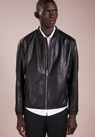 lewy leather jacket black