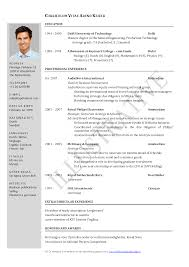 International Format Resume Resume For Study