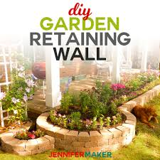 build a diy retaining wall for a flowerbed or garden with this step by