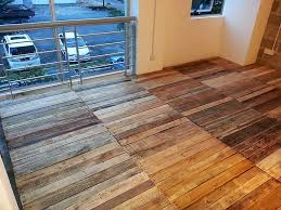 recycled wood pallet floor 7