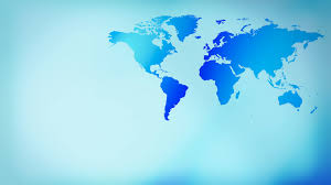 Map Of The World Background Blue Layout Futuristic World Map Background 4k Motion Background