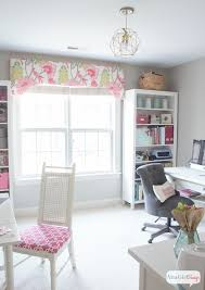 Office craftroom tour Large Form Meets Function In This Gorgeous Space Combination Craft Room And Feminine Home Office Atta Girl Says Feminine Home Office Craft Room Tour Atta Girl Says