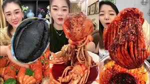 Seafood Mukbang - ASMR Eating Show ...