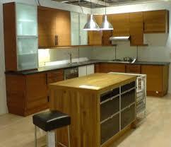 cabinet in kitchen design. Kitchen Cabinet, L-Shape Design With Island Cabinet In