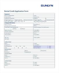 Sample Rental Application Form Extraordinary Car Rental Application Form Credit Free Template Applications