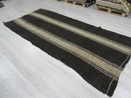 black and white striped rug large