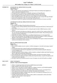 Operations Manager Resume Examples Retail Operations Manager Resume Samples Velvet Jobs 25