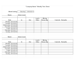 free printable weekly time sheets printable weekly timesheet template