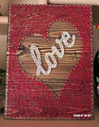 String Art DIY Crafts Kit - Heart Decor, DIY String Art Love, DIY Kit