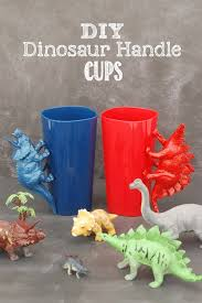 these diy dinosaur handle cups are an easy to make project that your kids will love