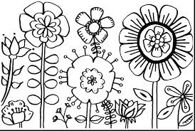 Spring Flower Template Flower Template For Coloring Outline Page S Printable Pages Adults