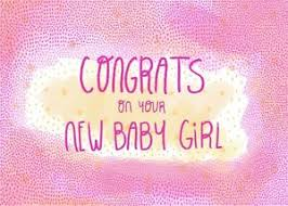 Details About New Baby Girl Sweet Congratulations Card Printed Paper Greeting Cards