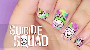 Suicide Squad nail art   Nail Art   Pinterest   Top coat