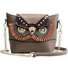 fashion cute owl shoulder bags for women 2019 new chain leather sequined bucket female casual clutch totes cross handbag sac mens leather bags laptop