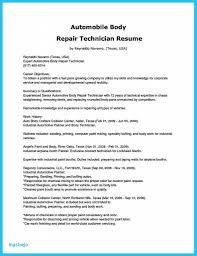Letter Of Recommendation Mechanic Auto Bodychnician Resume Job Description For Shop Objective