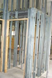 Interior metal framing Heavy Gauge Metal Extra Studs Around Doors Wherever We Are Going To Mount An Interior Door We Wilshire School Of Continuing Education Center Project Interior Framing Monolithic Dome Institute