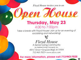 Invitation To Open House You Are Invited To An Open House At Floyd House Siouxland