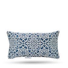 blue oak outdura avalon sapphire rectangular lumbar outdoor throw pillow 2 pack