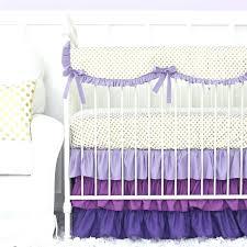 dahlia nursery bedding set purple and gold dot ruffle crib bedding set target bedding sets for cribs