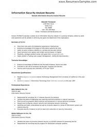 Security Analyst Resume Fascinating Information Security Analyst Resume Fresh Information Security