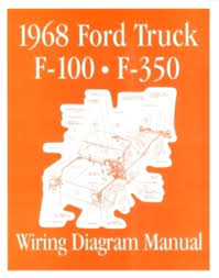 ford 1968 f100 f350 truck wiring diagram manual 68 this listing is for one brand new 1968 ford truck wiring diagram manual covering f100 through f350 trucks measuring approximately 8 3 8 x 10 3 4 inches