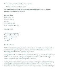 Administrative Assistant Cover Letter Template Finance ...