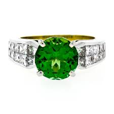 Christopher Designs Ring Christopher Designs 18k Gold Ring W 5 15ctw Fine Gia Green