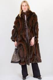 double sided leather and fox fur coat fit m leather outerwear clothing starbags products starbags gr