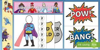 Free Superhero Sticker Stamp Reward Chart Superhero
