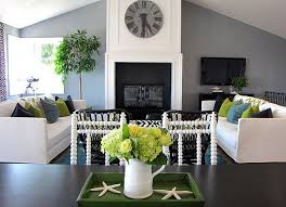 22 Teal Living Room Designs Decorating Ideas  Design Trends Green And White Living Room Ideas