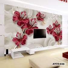 Wallpaper Dinding Motif Bunga 3d ...