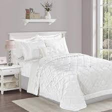 luxury 3 piece white velvet bedding set