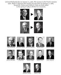 Apostles Death Chart Lds This Epic Chart Shows 40 Years Of Lds Apostles And Prophets