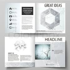 Annual Report Template Design Cool Business Templates For Square Design Bi Fold Brochure Magazine