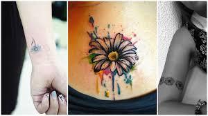 Tatuaggi Con La Margherita Significato E Disegni Più Belli Pourfemme