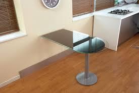 Table Gain De Place Modèle Concetta Plateau Verre