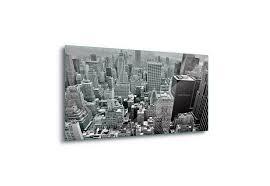 new york city skyline canvas amp glass wall