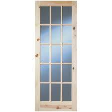 interior clear glass door. InDoors Glendale 15 Panel Interior Clear Glass Pine Door - Unfinished