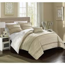 chic home atticus beige duvet cover 4 piece set