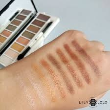Lily Lolo Filthy Rich eyeshadow swatches